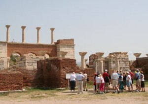 The ruins of the Basilica of St. John, near Ephesus